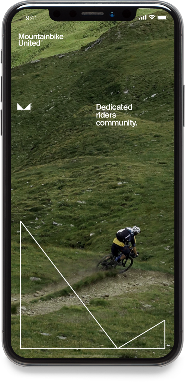 The Mountainbike United app screen