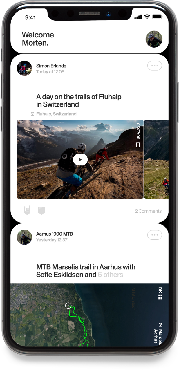 The Mountainbike United app screen 2