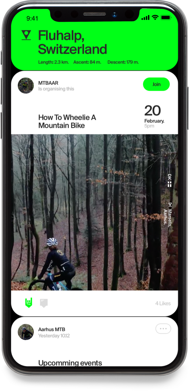 The Mountainbike United app screen 3